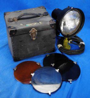 Vtg Industrial Case WW2 Navy Grimes Signal Light Model K 3 Spotlight
