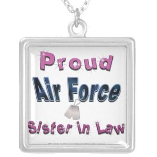 Proud Air Force Sister in Law Necklace