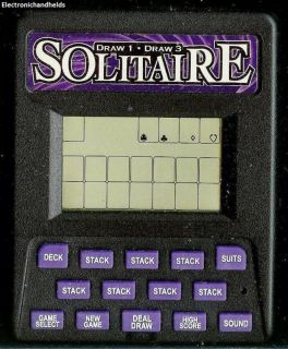 RECZONE DRAW SOLITAIRE ELECTRONIC HANDHELD TRAVEL GAME CARD CASINO LCD