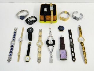 Lot of 15 Ladies Watches Fossil Gossip Guess Dolce Croton Etc