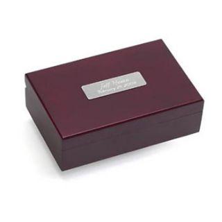 Cherry Finish Keepsake Box Groomsmen Gift