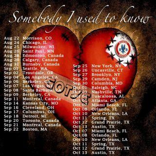 New Gotye Tour 2012 CD Albums Two Side Black Shirt s M L XL 2XL