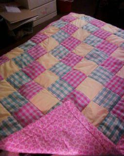 Handmade Vintage Fabric Toddler Quilt
