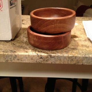 Golden Girls Two Wooden Salad Bowls Screen Used in Kitchen