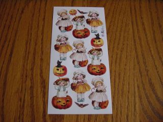 John Grossman VICTORIAN HALLOWEEN PUMPKIN KIDS CHILDREN OWL MOON CAT