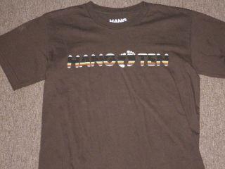 Hang Ten Surf Board Brand Boys Kids Brown Short Sleeve Graphic T Shirt