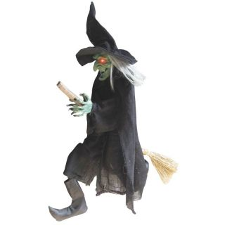 Halloween Hanging Witch Sounds Light Prop Decoration