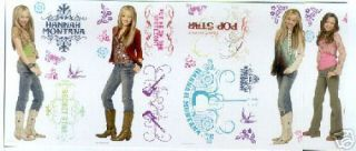 Hannah Montana Wall Stickers 26 Decals Miley Cyrus Room Decor