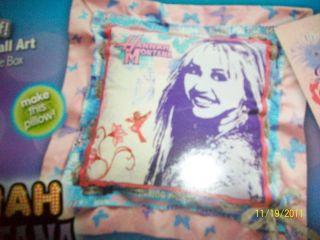 Disney Hannah Montana No Sew Kit Pillow Wall Art Make It Yourself Room