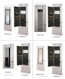 jewelry storage armoire box w mirrors hangs door wall more