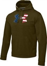UA UNDER ARMOUR 1213002 390 BIG FLAG LOGO TACKLE TWILL HOODY HOODIE