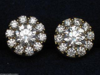 HEARTS ON FIRE 18k YELLOW GOLD FULFILLMENT earrings .49ctw