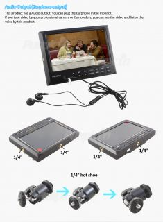 New 7 inch 1080p HD LCD on Camera HDMI Monitor Crane Video Cam F DSLR