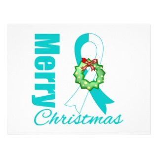 Cervical Cancer Awareness Merry Christmas Ribbon Flyer