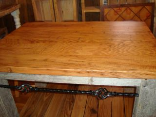 Reclaimed Antique Chestnut Top Island Work Station Barn Wood Base
