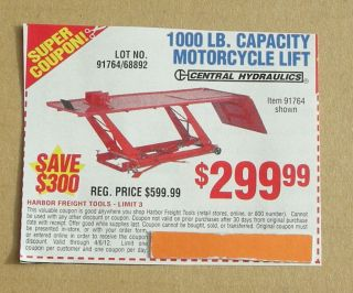 Harbor freight motorcycle lift coupon 2018