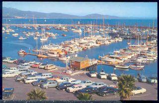 CA Santa Barbara California Yacht Harbor 50s Cars