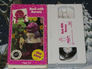 BARNEY VHS VIDEO TAPE HARD TO FIND OLDER COVER BABY BOP~FREE U.S. SHIP