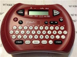 Brother PT 70SR Personal Electronic Handheld Labeler Metallic Red w M