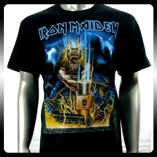 Iron Maiden Heavy Metal Men Rock Punk T Shirt Sz M Biker Rider IR10
