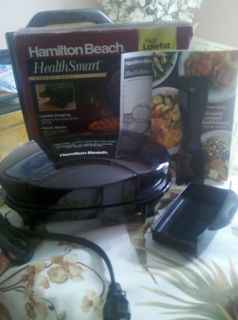 TOP HAMILTON BEACH HEALTH SMART GRILL #25210 (LOW FAT GRILLING)NEW