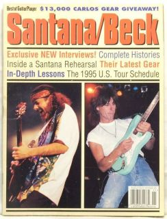 GUITAR PLAYER MAGAZINE BEST OF CARLOS SANTANA JEFF BECK VERY RARE BACK