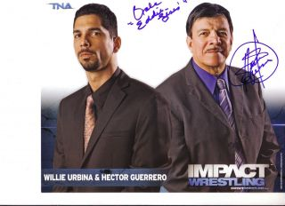 HECTOR GUERRERO INSCRIBED EDDIE TRIBUTE SIGNED TNA IMPACT PROMO P 61