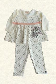Harley Davidson Infant Girls 2 PC Outfit Set Apparel Size 0 3 thru 6 9