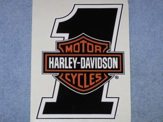 Harley Davidson 1 Bar Sheild Logo Decal Sticker Vinyl Motorcycle