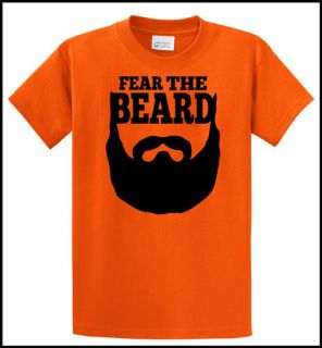 Fear The Beard Brian Wilson SF San Francisco Giants T Shirt Orange