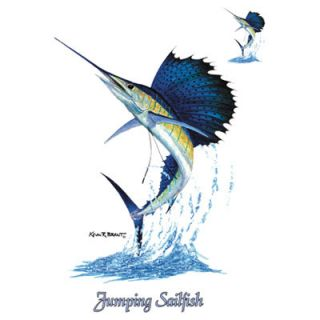 248M Sailfish Fishing Heat Transfer T Shirt Iron On