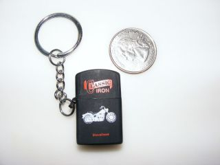 Harley Davidson Miniature Lighter Key Chain Classic Iron Shovelhead