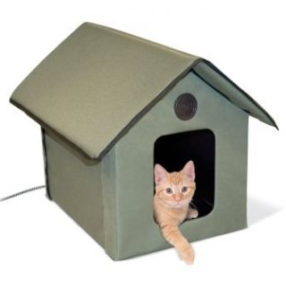 Outdoor Kitty Cat Kitten Dog Puppy Heated Warm House Back Yard Pet
