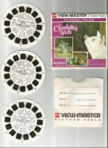 Charlottes Web B321 View Master Packet 100 Original 3 Reel Set