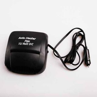 Car Auto Vehicle Portable Heater Heating Cooling Fan Defroster Black