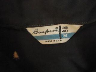 1940s 1950s Atomic Gabardine Print Rockabilly Shirt M Gab Style