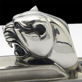 COOL HEAVY 3 D HORRIBLE TIGER Stainless Steel Ring Size 12 25 NEW