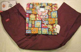 NWT Cherokee Dickies Nurse Scrub Set Top Style 1766C Pants 54305 Size
