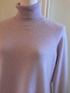 Harolds Pretty Lavender 100 Cashmere Turtleneck Sweater L