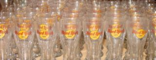 Hard Rock Cafe Miami 9 Tall Pilsner Glass Classic HRC Logo Glassware