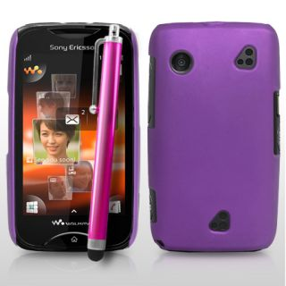 Black Hybrid Hard Cover for Sony Ericsson Mix Walkman WT13i Stylus