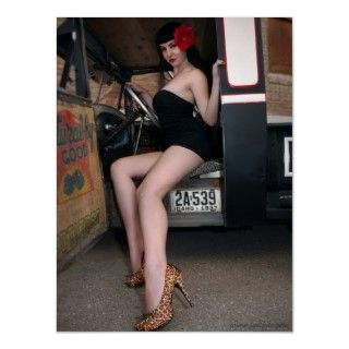 FuelFoto   1929 Ford Rat Rod Pin Up Girl Poster   Model Sophie Edwina
