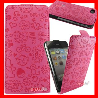 4S En Piel Cartoon Hello Kitty Fashion Retro Color Rosa