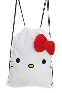 Hello Kitty Cinch Bag New Sack Back Pack Drawstring Bookbag
