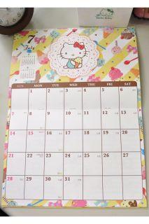 2013 Hello Kitty Wall Calendar Plan 25 7 x 18 cm 10 x 7 Sanrio