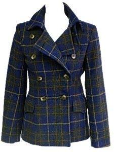 Womens Harris Tweed Coat Doe a Deer Military Style Blazer Jacket Size