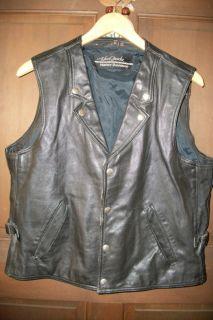 Hein Gericke Leather Harley Davidson Vest XL