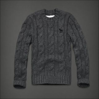 Abercrombie Fitch Raquette River Wool Blend Men's Cable Knit Sweater