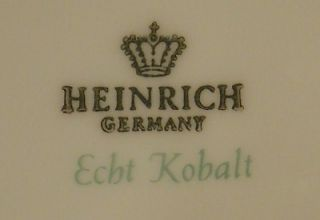 Heinrich China Echt Kobalt Cobalt Blue Coffee Pot Lid