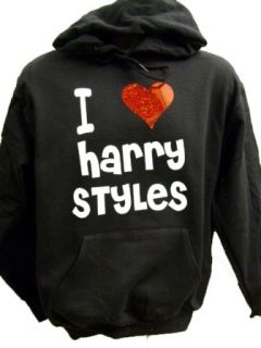 Harry Styles Black Hoodie Red Heart One Direction 14 15